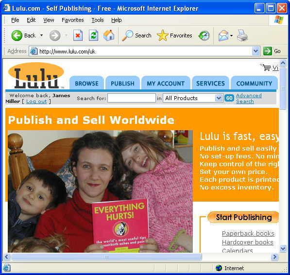 Lulu - Click for the Lulu web site